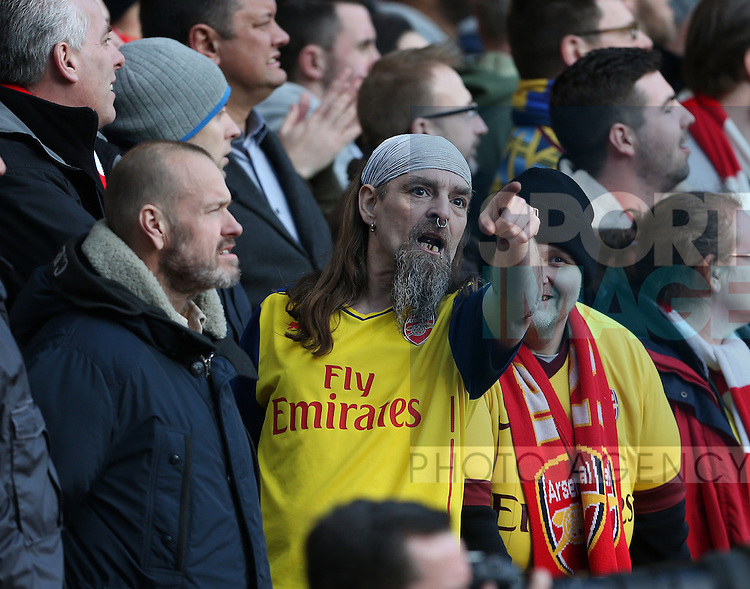 Arsenal fan known as Bully cheers his side on<br /> <br /> Barclays Premier League - Crystal Palace  vs Arsenal  - Selhurst Park - England - 21st February 2015 - Picture David Klein/Sportimage