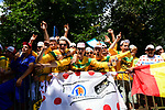 Huge crowds at the roadside during Stage 1 of the 2019 Tour de France running 194.5km from Brussels to Brussels, Belgium. 6th July 2019.<br /> Picture: ASO/Pauline Ballet | Cyclefile<br /> All photos usage must carry mandatory copyright credit (© Cyclefile | ASO/Pauline Ballet)