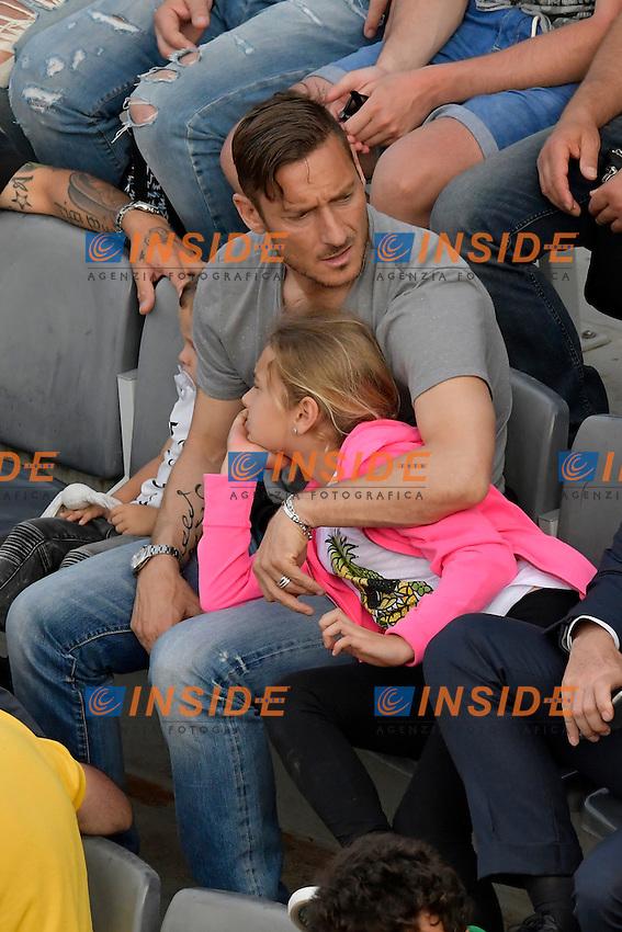 Francesco Totti con Chanel.<br /> Roma 10-05-2016  Foro Italico<br /> Internazionali BNL d'Italia, <br /> Tennis ATP<br /> Foto Antonietta Baldassarre / Insidefoto