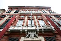 Veduta esterna di Palazzo Rosso a Genova.<br /> Exterior of Palazzo Rosso in Genoa.<br /> UPDATE IMAGES PRESS/Riccardo De Luca