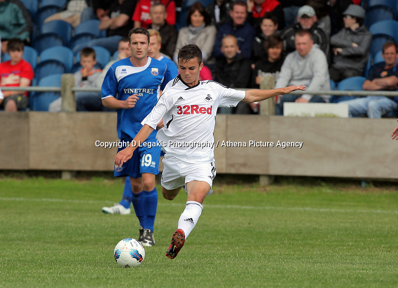 Pictured:  Saturday 17 July 2011<br /> Re: Pre season friendly, Port Talbot Football Club v Swansea City FC at the GenQuip ground, Port Talbot, south Wales.