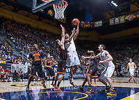 California's Richard Solomon shoots for the basket during a game against USC at Haas Pavilion in Berkeley, California on February 23th, 2014. California defeated USC 77 - 64
