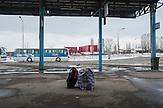 Busstation in Pristina / Bus station scene in Prishtina