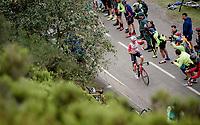 """Running Man"" Tomasz Marczynski (POL/Lotto-Soudal) up the Alto de La Cubilla<br /> <br /> Stage 16: Pravia to Alto de La Cubilla. Lena (144km)<br /> La Vuelta 2019<br /> <br /> ©kramon"