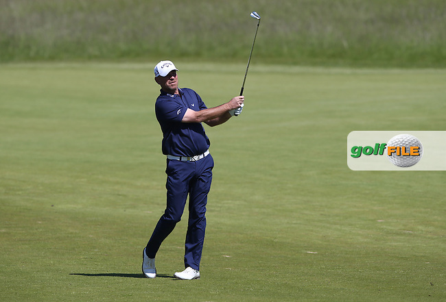 Thomas Bjorn (DEN) plays second shot to the 5th during Round Two of the 2015 Nordea Masters at the PGA Sweden National, Bara, Malmo, Sweden. 05/06/2015. Picture David Lloyd | www.golffile.ie