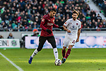 09.02.2019, HDI Arena, Hannover, GER, 1.FBL, Hannover 96 vs 1. FC Nuernberg<br /> <br /> DFL REGULATIONS PROHIBIT ANY USE OF PHOTOGRAPHS AS IMAGE SEQUENCES AND/OR QUASI-VIDEO.<br /> <br /> im Bild / picture shows<br /> Jonathas De Jesus (Hannover 96 #09) im Duell / im Zweikampf mit Enrico Valentini (Nuernberg #22), <br /> <br /> Foto &copy; nordphoto / Ewert