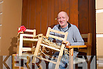 Mickey Buckley with Sugan Chairs which are on sale at Star Buys in Church Street, Listowel.