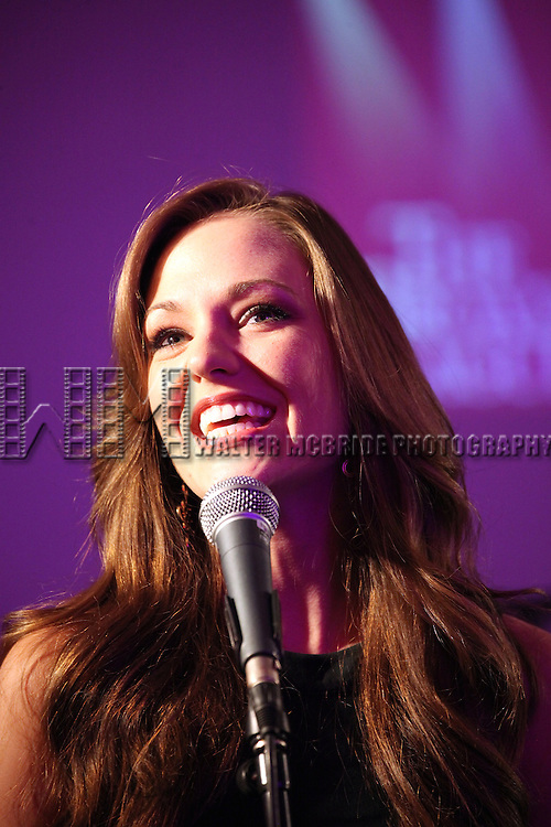 Laura Osnes attending the 'Broadway Salutes' honoring those who make Broadway Great at the Timers Square Visitors Center in Times Square,  New York City on 9/20/2012.