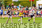 Bella Clifford Currow sprinting clear of her Listowel and Keel-Killtallagh opponents at the Kerry Community games finals in Castleisland on  Saturday