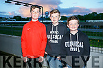 Enjoying a night at the Dogs on Saturday were Tyrion O'Carroll, Oisin Tobin and Oran Tobin from Tralee