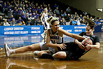 SIOUX FALLS, SD - MARCH 19: Samantha Hyslip #21 from Stonehill ties up Carolyn Appleby #5 from Indiana (PA) for a jump ball during their quarterfinal game at the 2018 Elite Eight Women's NCAA DII Basketball Championship at the Sanford Pentagon in Sioux Falls, SD. (Photo by Dave Eggen/Inertia)