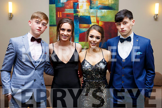 Attending the CBS Debs at the Ballroom Heights Hotel on Friday night last, l-r, Darragh Sheridan (Tralee), Victoria Wielogorska (Tralee), Amy Lawlor (Tralee) and Ben Foley (Tralee).