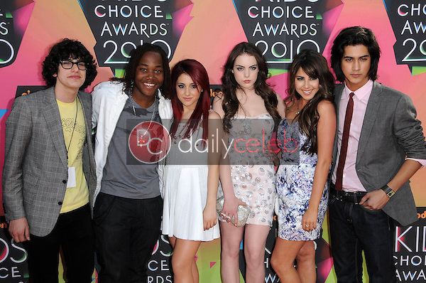 Cast of 'Victorious' <br /> at the Nickelodeon's 23rd Annual Kids' Choice Awards, UCLA's Pauley Pavilion, Westwood, CA 03-27-10<br /> David Edwards/DailyCeleb.com 818-249-4998