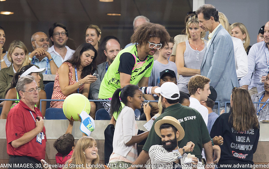 Ambience, LMFAO..Tennis - US Open - Grand Slam -  New York 2012 -  Flushing Meadows - New York - USA - Sunday 2nd September  2012. .© AMN Images, 30, Cleveland Street, London, W1T 4JD.Tel - +44 20 7907 6387.mfrey@advantagemedianet.com.www.amnimages.photoshelter.com.www.advantagemedianet.com.www.tennishead.net