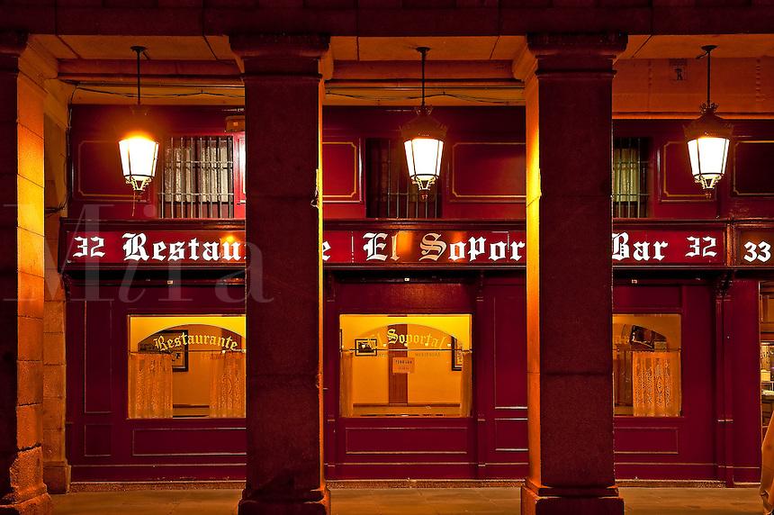 El Soportal Restaurant, Plaza Mayor, Madrid, Spain