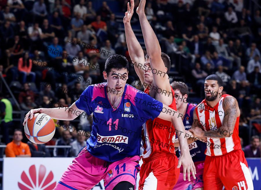 Kosarka ABA League season 2017-2018<br /> Crvena Zvezda v Mega Bemax<br /> Goga Bitadze (L)<br /> Beograd, 04.09.2017<br /> foto: Srdjan Stevanovic/Starsportphoto &copy;