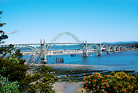 BRIDGES<br /> Yaquina Bay Bridge<br /> An arch bridge that crosses the Yaquina Bay in Newport, Oregon, USA. Made of concrete and steel, the bridge was completed in the early 1920's.