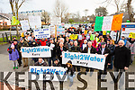 The crowd that Attending the Water Charges Protest at the Brandon car park Tralee on Saturday
