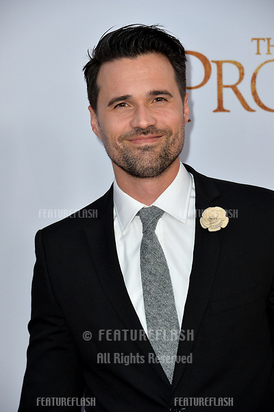 Brett Dalton at the premiere for &quot;The Promise&quot; at the TCL Chinese Theatre, Hollywood. Los Angeles, USA 12 April  2017<br /> Picture: Paul Smith/Featureflash/SilverHub 0208 004 5359 sales@silverhubmedia.com