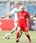 VfL Wolfsburg's Alexandra Popp (l) and Olympique Lyonnais's Pauline Bremer during UEFA Women's Champions League 2015/2016 Final match.May 26,2016. (ALTERPHOTOS/Acero)
