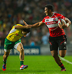 Japan play Brazil on Day 1 of the Cathay Pacific / HSBC Hong Kong Sevens 2013 at Hong Kong Stadium, Hong Kong. Photo by Manuel Queimadelos / The Power of Sport Images