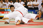 (L-R) Takuhito Ohara, Yusei Ogawa, September 14, 2014 - Judo : All Japan Junior Judo Championships Men's +100kg Final at Saitama Prefectural Budokan, Saitama, Japan. (Photo by Yusuke Nakanishi/AFLO SPORT) [1090]