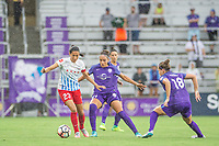 Orlando, FL - Saturday July 01, 2017: Christen Press, Monica, Maddy Evans during a regular season National Women's Soccer League (NWSL) match between the Orlando Pride and the Chicago Red Stars at Orlando City Stadium.