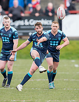 Picture by Allan McKenzie/SWpix.com - 25/03/2018 - Rugby League - Betfred Championship - Batley Bulldogs v Featherstone Rovers - Heritage Road, Batley, England - Featherstone's Martyn Ridyard kicks downfield.