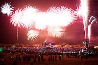 Fireworks at the closing ceremony. Photo: Audun Ingebrigtsen / Scouterna