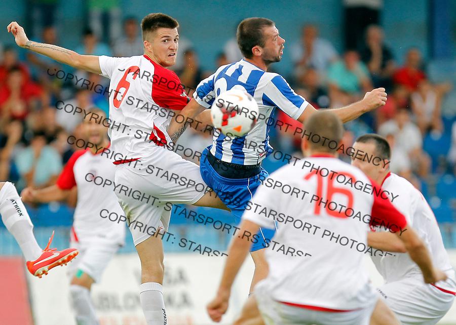 Fudbal Super liga season 2013-2014<br /> OFK Beograd v Vozdovac<br /> Slobodan Lalic left<br /> Beograd, 10.08.2013.<br /> foto: Srdjan Stevanovic/Starsportphoto &copy;