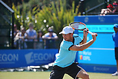 June 17th 2017, Nottingham, England; ATP Aegon Nottingham Open Tennis Tournament day 6;  Dudi Sela of Israel wins through to the final after his opponent Marius Copil of Roumania retired from the game very early in the first set