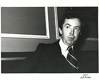 Joe Clark<br />  file photo circa 1980.<br /> <br /> PHOTO :   Agence Quebec Presse