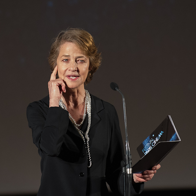 "Charlotte Rampling at the prize giving during the closing ceremony on the twelth day of Festival Paris Cinema with the closing ceremony, announcement of prizes, and ""Je me suis fait tout petit"" by Cécilia Rouaud, presented by and in the presence of Cécilia Rouaud, Charlotte Rampling, Vanessa Paradis, Léa Drucker and Denis Ménochet, at The Limelight and MK2 Bibliothèque, Paris. Monday 9th July 2012."