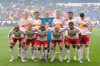 New York Red Bulls starting eleven. The New York Red Bulls defeated the Colorado Rapids 4-1 during a Major League Soccer (MLS) match at Red Bull Arena in Harrison, NJ, on March 25, 2012.