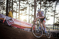 World Champion Mathieu Van der Poel (NLD/BKCP-Corendon) leading the race<br /> <br /> UCI Cyclocross World Cup Heusden-Zolder 2015