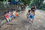 Deaconess Maria Jessica Cicillo acts out Biblical stories with children in Mt. Heights, Philippines, where she works as a Christian educator for a nearby United Methodist Church. She is a graduate of Harris Memorial College.