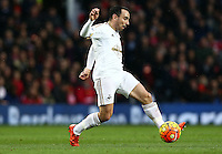 Leon Britton of Swansea City during the Barclays Premier League match between Manchester United and Swansea City played at Old Trafford, Manchester on January 2nd 2016