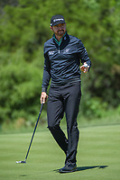 Jimmy Walker (USA) after sinking his birdie putt on 2 during Round 4 of the Valero Texas Open, AT&amp;T Oaks Course, TPC San Antonio, San Antonio, Texas, USA. 4/22/2018.<br /> Picture: Golffile | Ken Murray<br /> <br /> <br /> All photo usage must carry mandatory copyright credit (&copy; Golffile | Ken Murray)