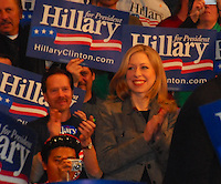 Chelsea Clinton joins her mother on the campaign trail Monday night, 2/18/08, at Monona Terrace in Madison