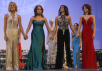 12 July, 2008:    The final four came down to (left) Miss Tri-Cities Kristen Cox, (left center) Miss Pierce County Elizabeth Lamb-Ferro, (right center) Miss Tahoma Janet Harding and (right) Miss Auburn Cara Rudd at the 2008 Miss Washington pageant at the Pantages Theater in Tacoma , Washington.  Miss Tahoma Janet Harding won this years 2008 Washington pageant.