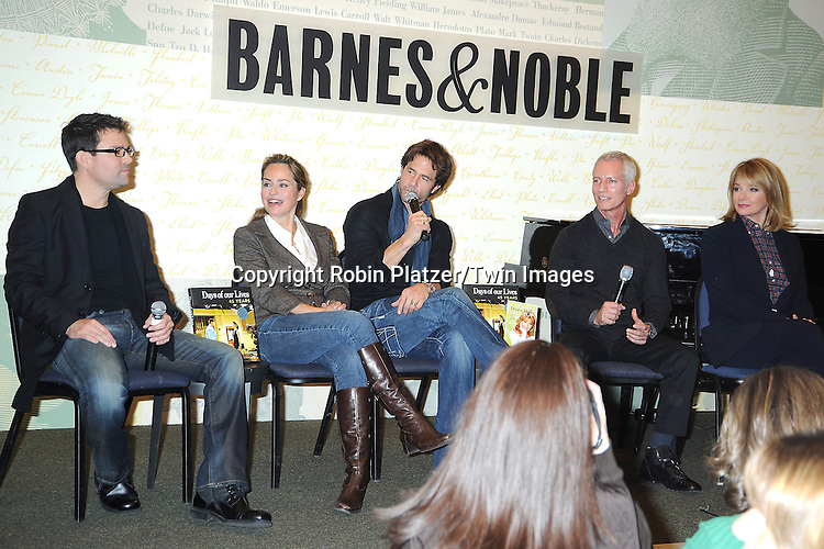 "Eddie Campbell, Crystal Chappell, Shawn Christian, Greg Meng and Deidre Hall at the book signing for""Days of Our Lives 45 Years :A Celebration in Photos"" at Barnes & Nobles, Lincoln Triangle in New York City on December 7, 2010..photo by Robin Platzer/ Twin Images"