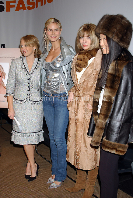 WWW.ACEPIXS.COM . . . . . ....NEW YORK, FEBRUARY 4, 2005....Katie Couric, Heidi Klum, Anna Wintour and Vera Wang at the Olympus Fashion Week Kickoff press conference.....Please byline: KRISTIN CALLAHAN - ACE PICTURES.. . . . . . ..Ace Pictures, Inc:  ..Philip Vaughan (646) 769-0430..e-mail: info@acepixs.com..web: http://www.acepixs.com