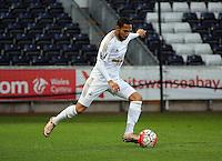 Pictured: Kenji Gorre of Swansea Monday 04 April 2016<br />Re: Swansea City AFC U21 v Newcastle United FC U21 at the Liberty Stadium, Swansea, UK