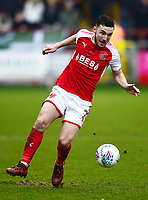 Fleetwood Town's Lewis Coyle in action<br /> <br /> Photographer Richard Martin-Roberts/CameraSport<br /> <br /> The EFL Sky Bet League One - Fleetwood Town v Plymouth Argyle - Saturday 10th March 2018 - Highbury Stadium - Fleetwood<br /> <br /> World Copyright &not;&copy; 2018 CameraSport. All rights reserved. 43 Linden Ave. Countesthorpe. Leicester. England. LE8 5PG - Tel: +44 (0) 116 277 4147 - admin@camerasport.com - www.camerasport.com