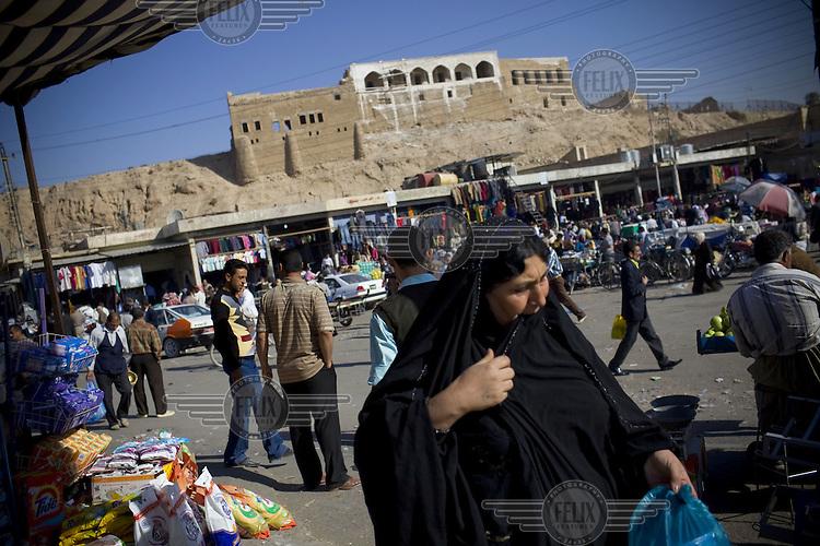 People at a market in Kirkuk in Iraqi Kurdistan.