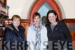 Julie FoleyEileen Coffey and Nora Hallissey  Beaufort, at the Tommy Fleming concert in the Killarney Friary on Thursday night