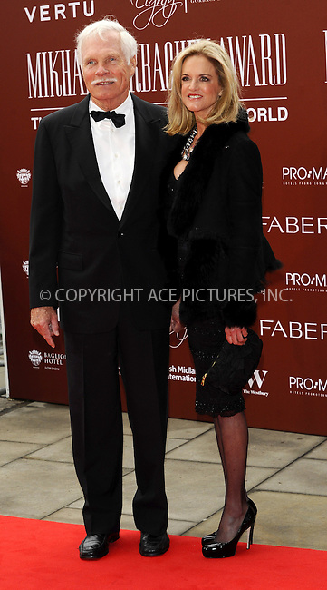 WWW.ACEPIXS.COM . . . . .  ..... . . . . US SALES ONLY . . . . .....March 30 2011, London....Ted Turner arriving at the Gorby 80 Gala to Celebrate Mikhail Gorbachev's 80th birthday at the Royal Albert Hall on March 30, 2011 in London, England.....Please byline: FAMOUS-ACE PICTURES... . . . .  ....Ace Pictures, Inc:  ..tel: (212) 243 8787 or (646) 769 0430..e-mail: info@acepixs.com..web: http://www.acepixs.com