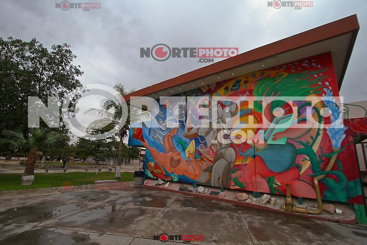 Escuela de Historia de Universidad de Sonora. Mural de Eleazar Borquez Moreno<br /> .  ...*8*/feb/201*.***photo:staff/NortePhoto**.*No*sale*to*third*