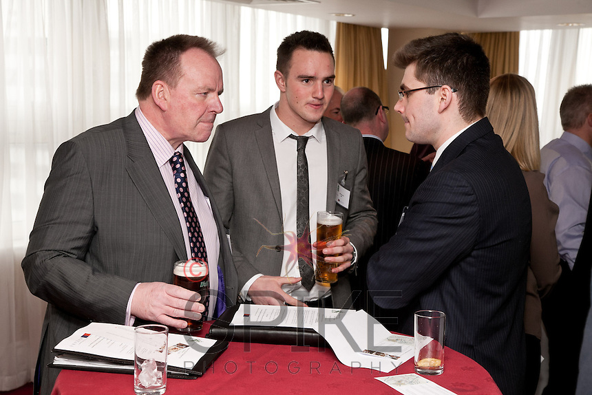 Sharing a laugh are from left Paul Richie of Foremost Security, Justin Boucher of SWA and Adam Kingswood of Pure Lettings