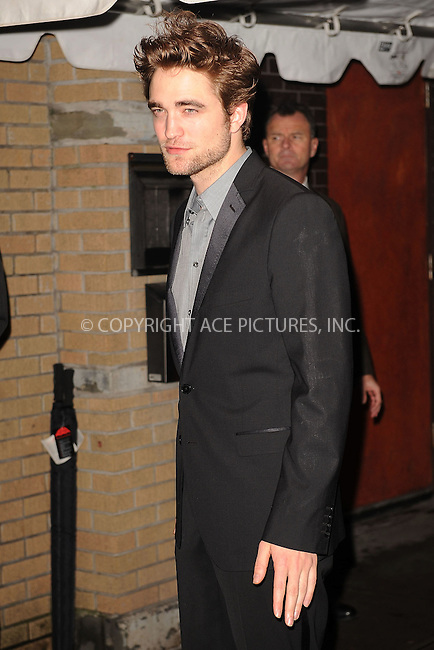 WWW.ACEPIXS.COM . . . . . ....November 19 2009, New York City....Actor Robert Pattinson arriving at The Cinema Society and D&G screening of THE TWILIGHT SAGA: NEW MOON at Landmark's Sunshine Cinema on November 19, 2009 in New York City.....Please byline: KRISTIN CALLAHAN - ACEPIXS.COM.. . . . . . ..Ace Pictures, Inc:  ..(212) 243-8787 or (646) 679 0430..e-mail: picturedesk@acepixs.com..web: http://www.acepixs.com